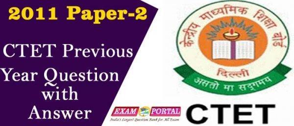 CTET 2011 Paper-2 Question