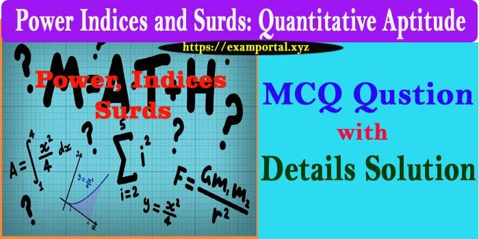 Power, Indices and Surds