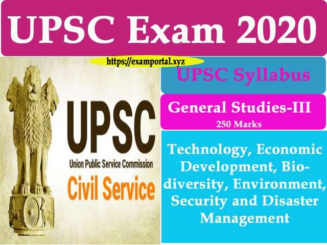GS Paper-3 Syllabus