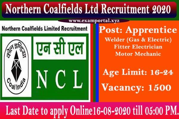 Northern Coalfields Ltd Recruitment 2020