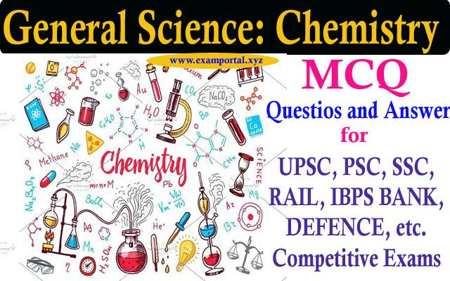 Chemistry MCQ Questions