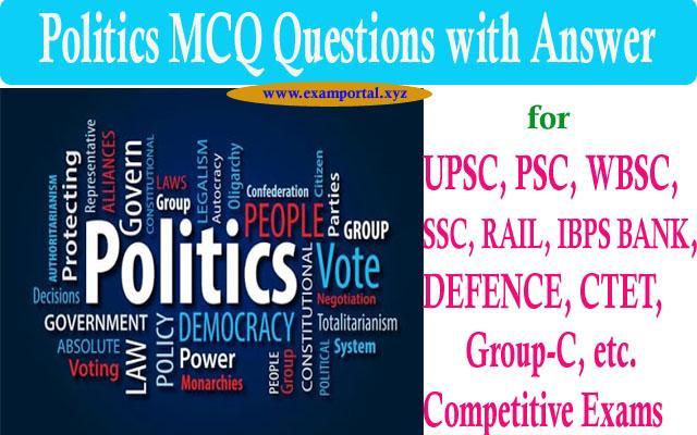 Politics MCQ questions