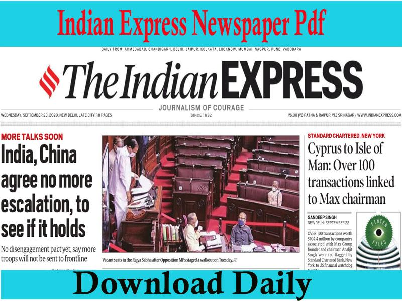 Indian Express Newspaper Pdf