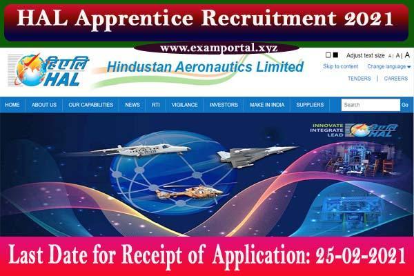 HAL Apprentice Recruitment 2021