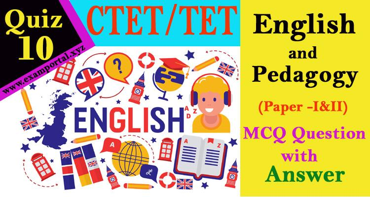 English and Pedagogy mcq Questions quiz-10